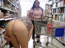 naked woman in walmart - rare video