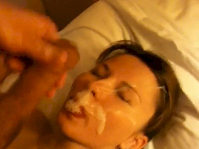 Amateur wife facial real