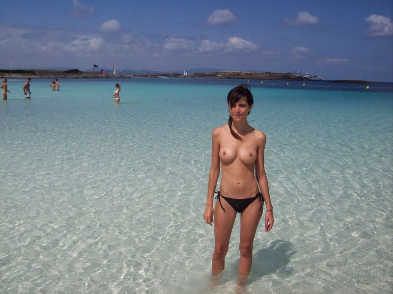 Beach Big Teen Tit