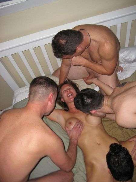 three guys having sex nsfw