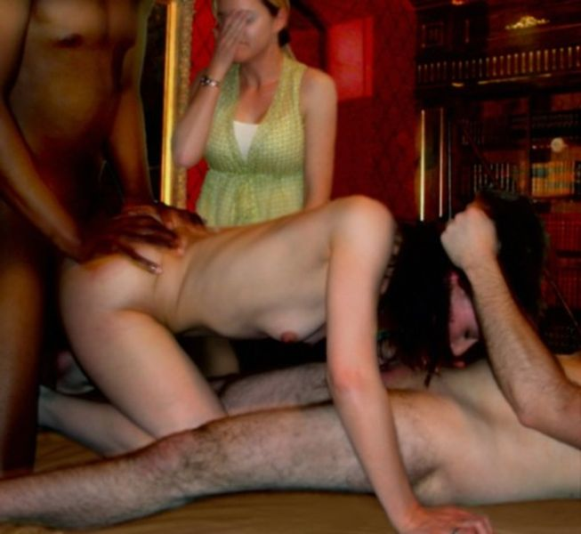 Full length group sex clips threesome