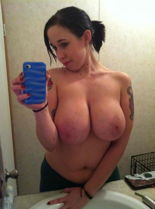 Big tits on older females